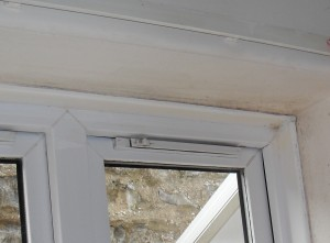 Windows & frames usually get cold, so are prone to condensation and resulting mould growth