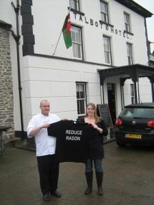 Radon Tee at the Talbot Hotel in Tregaron