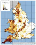HPA Radon Map England & Wales