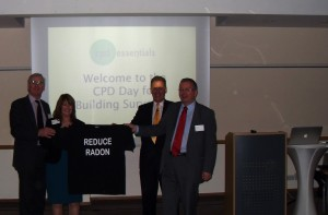 Radon Tee at CPD Essentials Building Surveyors Briefing in Bristol