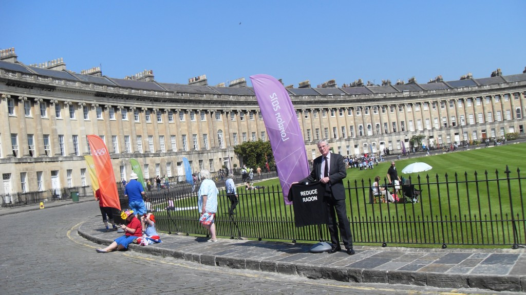 Radon Tee at Royal Crescent for Olympic Torch Relay 2012
