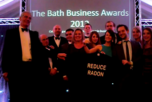 Radon Tee at Bath Business Awards 2012