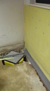 Type C Waterproofing with Cavity Drain Membrane and Sump Pump