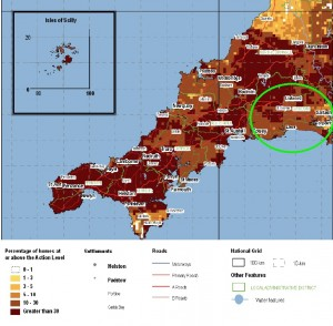 East Cornwall Radon Map