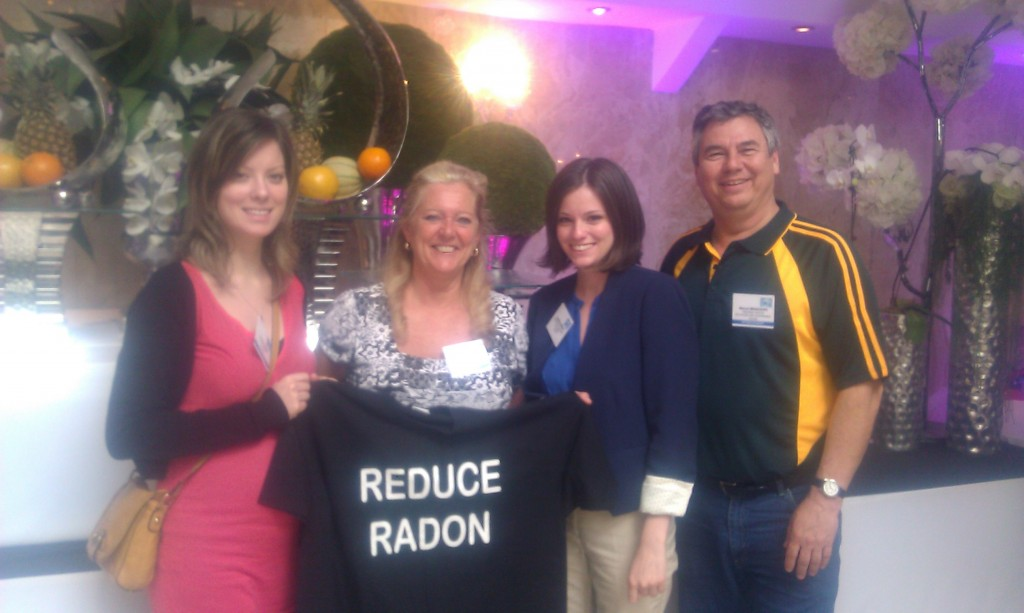 Radon Tee with Canadian Representatives at International Radon Conference, Paris 2013