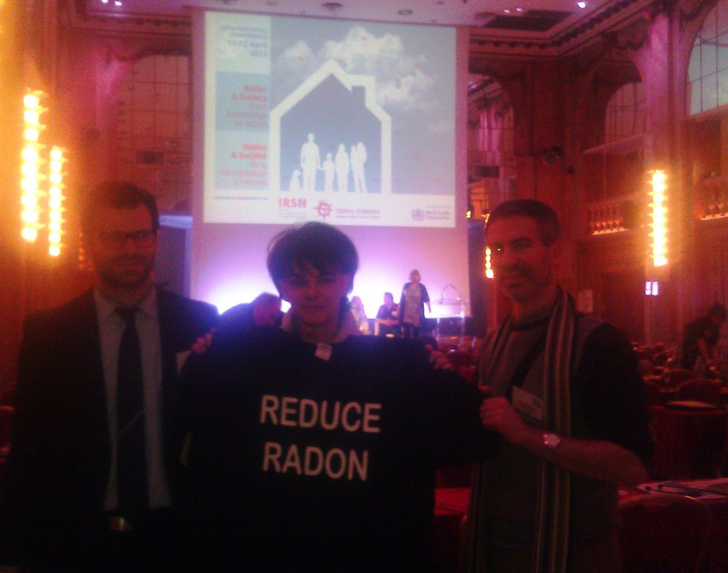 Radon Tee with Dr van Deventer of WHO