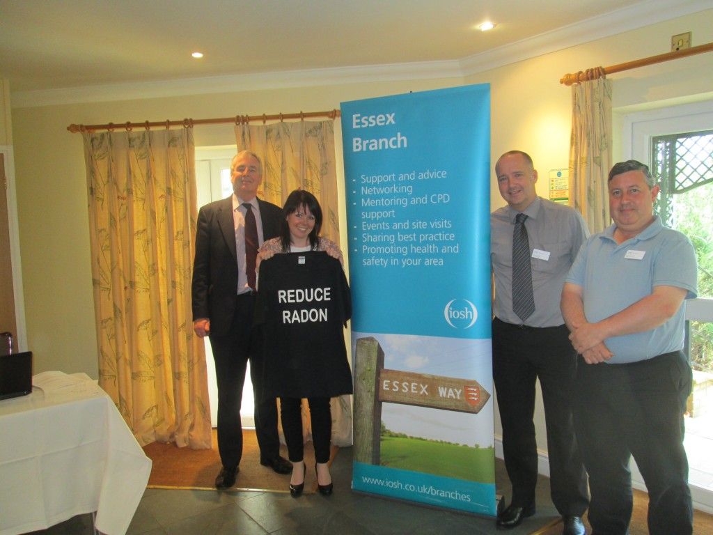 Reduce Radon Message Promoted by IOSH Essex