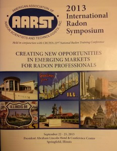 AARST International Radon Symposium 2013