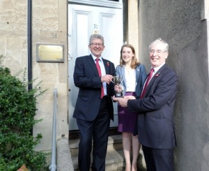 Don Foster with Rebecca Coates & Martin Freeman of propertECO