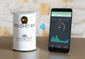 RadonEye Plus allows you to view real time data remotely via the App