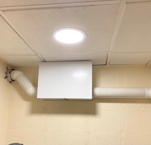 positive pressure system installed in London property